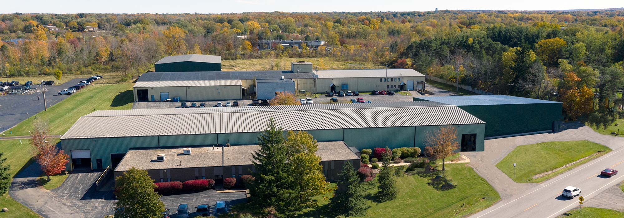 overhead view of taylor metalworks industrial builing